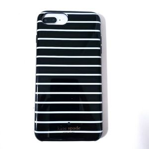kate spade Other - NEW Kate Spade | Black & White Striped iPhone Case
